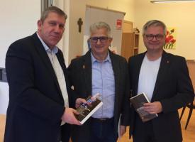 Martin Lücke, MdB Andreas Schwarz und Felix Holland von der Bamberger SPD