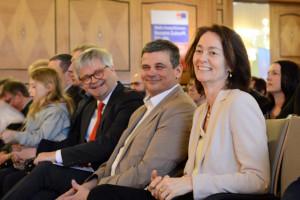 Spitzenkandidatin Katharina Barley, Martin Lücke und Uli Scharfenberg ( SPD KV Hof)