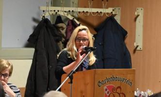 SPD Bürgermeisterkandidatin Xenia Keil bei ihrem Grußwort