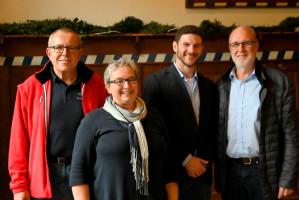Sonja Wagner, Kreisvorsitzende mit Stephan Unglaub, Harald Schlegel und Jan Fischer