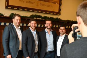 Andreas Zippel, OB _Kandidat der Bayreuther SPD und Jan Fischer mit Lars Klingbeil