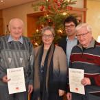Franz Schuster und Andreas Haas erhlten ihre Ehrenurkunden