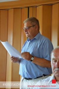 der Vorsitzende Hans Dötsch bei seiner Antrittsrede