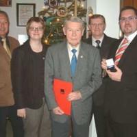 Verleihung der Willy-Brandt-Medaille an Erhard Macha