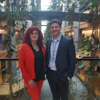 Jan Fischer und Kerstin Westphal im Europäischen Parlament
